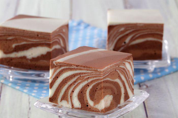 resep Pudding cake zebra