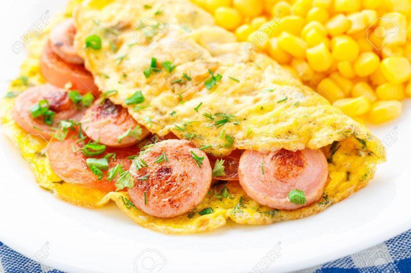 cara-membuat-omelet-telur-sosis