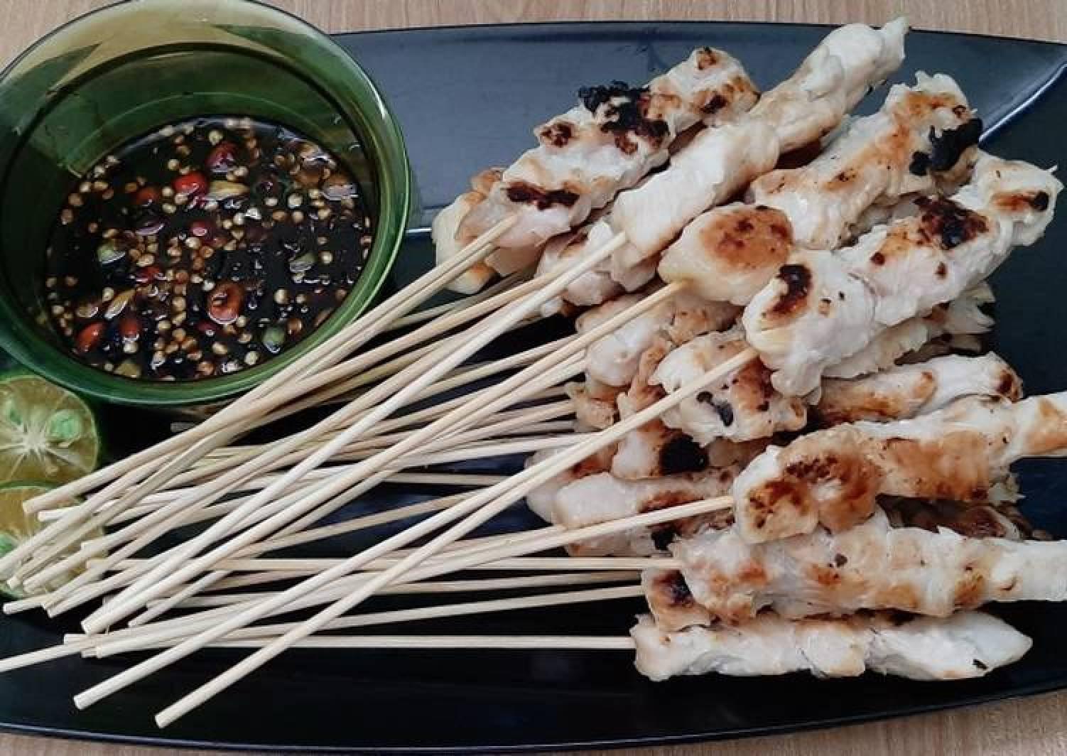 Cara Membuat Sate Taichan Daging Sapi Teflon