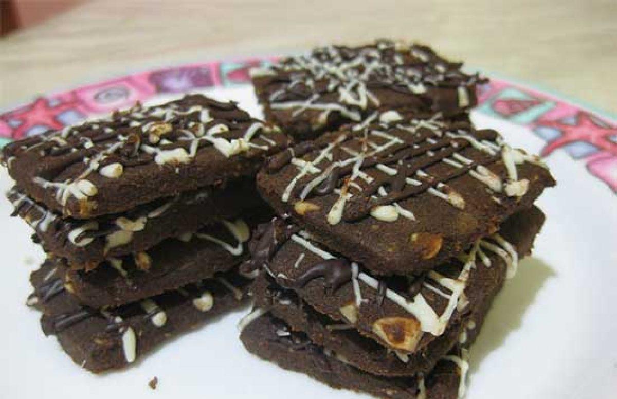 Resep Kue Coklat Kacang Tanah Crunchy